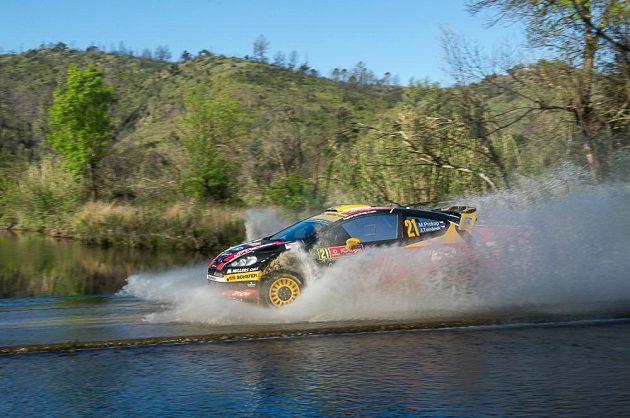 Martin Prokop s Fordem Fiesta WRC při Portugalské rallye 2014