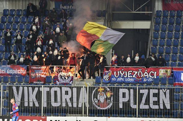Fanoušci Plzně v Uherském Hradišti.