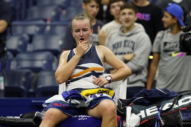 Barbora Krejčíková během zápasu trpěla