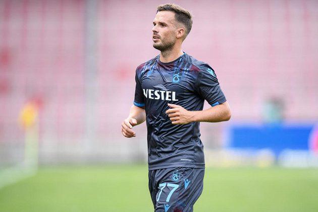 Filip Novák z Trabzonsporu během utkání 3. předkola Evropské ligy na půdě Sparty.