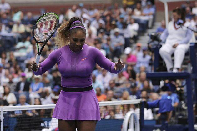 Serena Williamsová během finále US Open.