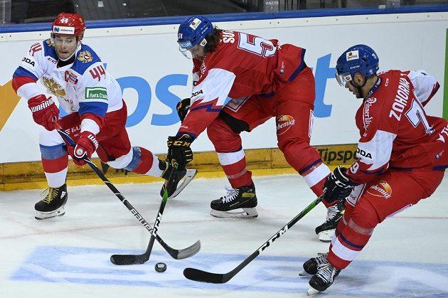 Čeští hokejisté bojovali s Ruskem