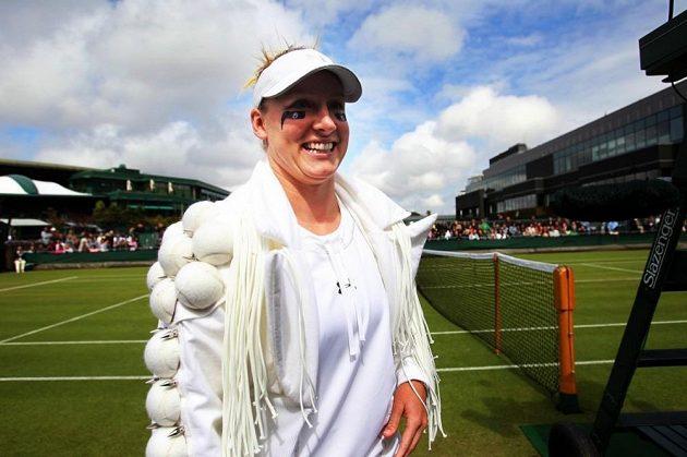 Takhle se Bethanie Matteková-Sandsová vyšňořila před zápasem Wimbledonu.