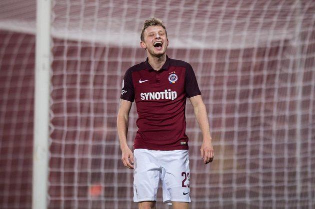 Ladislav Krejčí ze Sparty po neuznaném gólu proti Plzni.