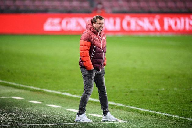 Trenér Sparty Praha Pavel Vrba během utkání osmifinále MOL Cupu.