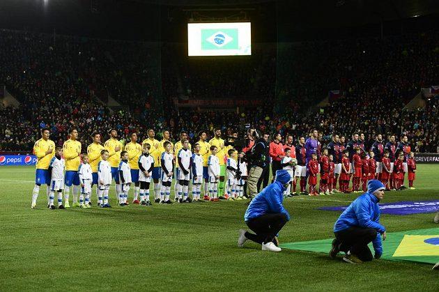 Čeští fotbalisté přivítali v Edenu Brazílii