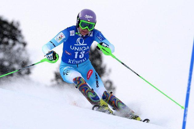 Šárka Strachová sahala po vítězství ve slalomu Světového poháru, v Kühtai nestačila pouze na Američanku Mikaelu Shiffrinovou.