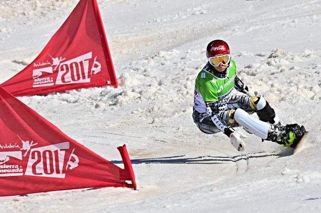 Snowboardistka Ester Ledecká na MS.