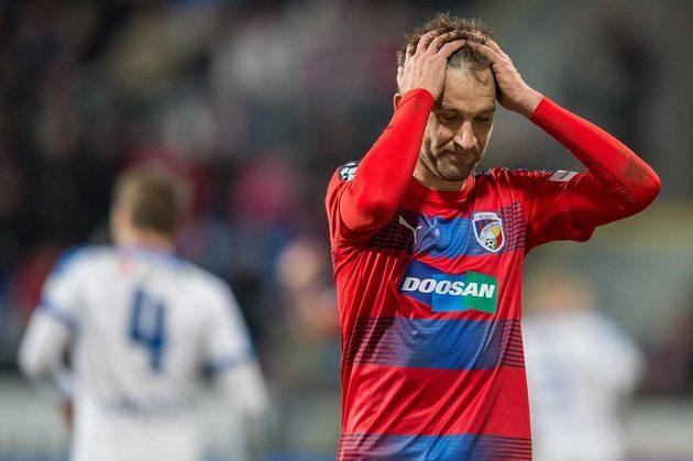 Marek Bakoš z Viktorie Plzeň během utkání s Libercem.