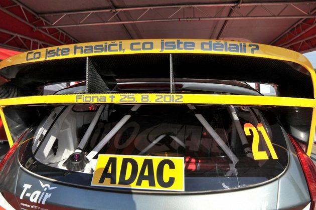 Speciálně upravené zadní křídlo Fordu Fiesta WRC českého pilota Martina Prokopa pro Německou rallye 2013.