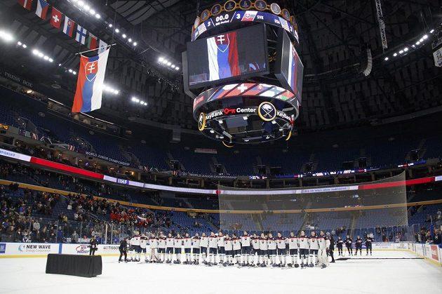 Prázdná hala po utkání MSJ mezi USA a Slovenskem.