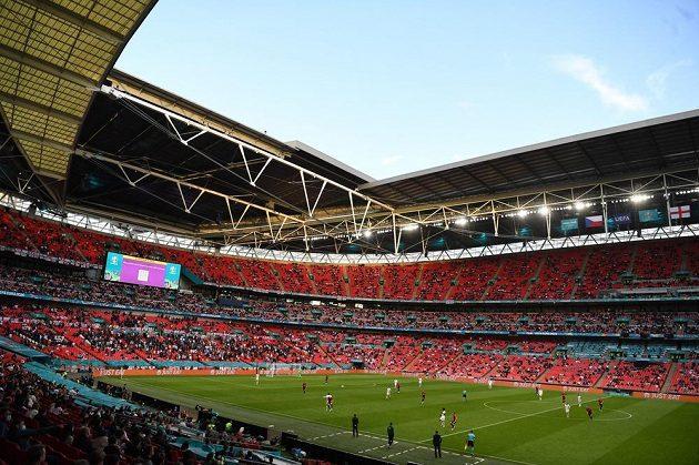 Wembley při zápase českých fotbalistů s Anglií.