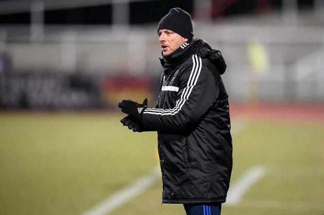 Jihlavský trenér Martin Svědík během utkání na Julisce.