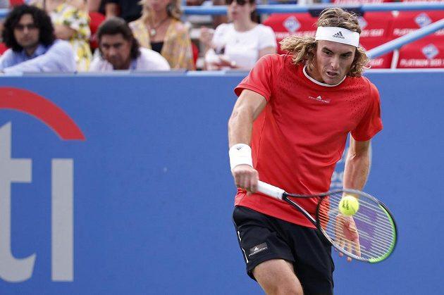 Řecký tenista Stefanos Tsitsipas na turnaji ve Washingtonu.