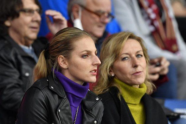 Na fotbalisty Sparty a svého přítele se přišla podívat tenistka Kristýna Plíšková.