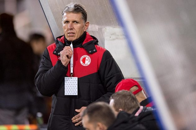 Trenér Slavie Praha Jaroslav Šilhavý.