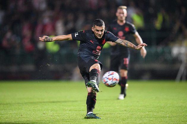 Nicolae Stanciu ze Slavie během utkání 3. kola Fortuna ligy proti FK Pardubice.