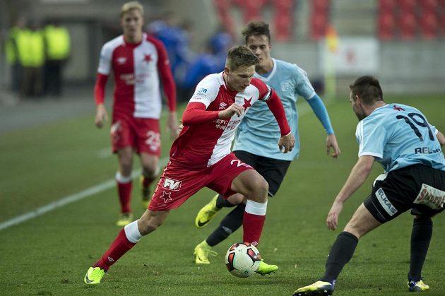 Zleva Milan Škoda ze Slavie a Daniel Jenne z Vyšehradu.