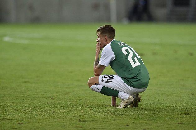 Zklamaný Dominik Pleštil z Jablonce po vyřazení ve 2. kole Evropské ligy.