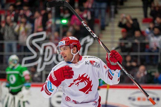 Wojciech Wolski z Třince slaví branku