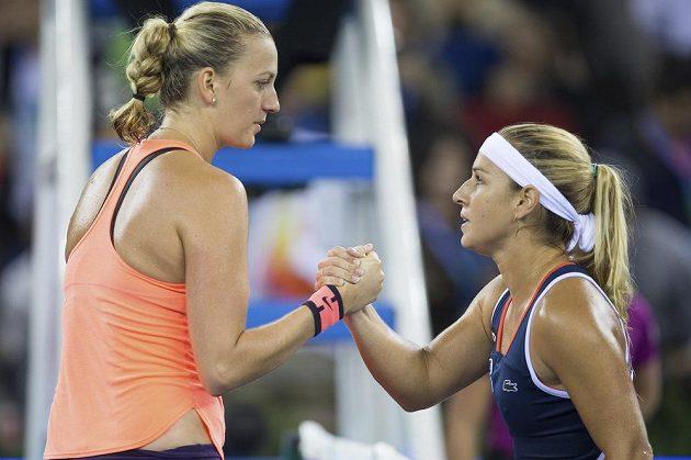 Petra Kvitová po finále s Dominikou Cibulkovou.