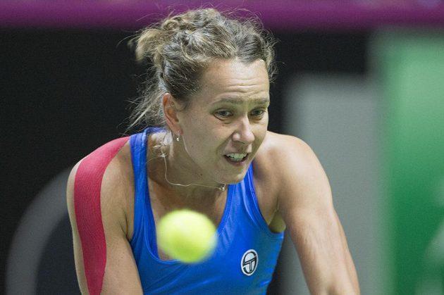Barbora Strýcová během duelu proti Golubicové.