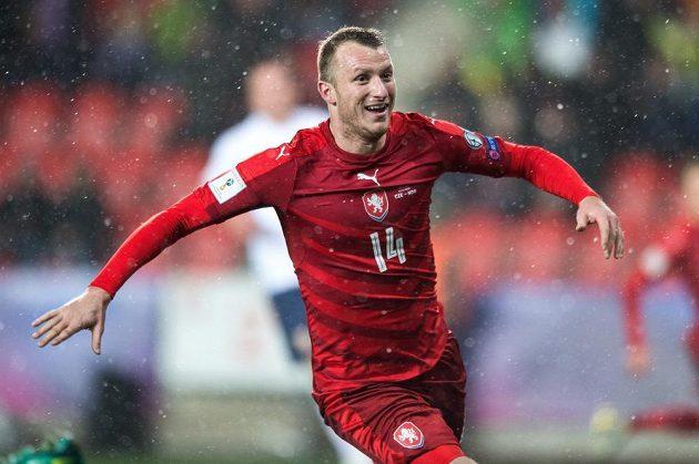 Autor prvního gólu české reprezentace v kvalifikaci Michael Krmenčík v duelu proti Norsku.