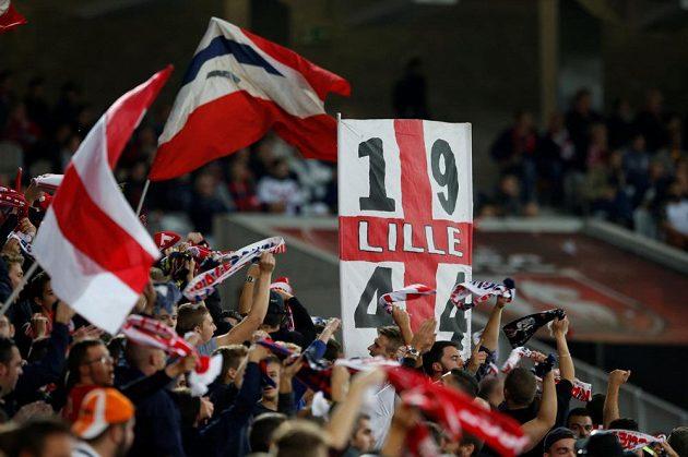 Fanoušci Lille během utkání s Monakem.