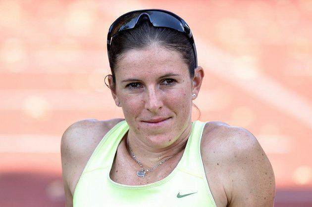 Běžkyně Zuzana Hejnová během přípravy na MS 2015 ve sportovním centru Nymburk.