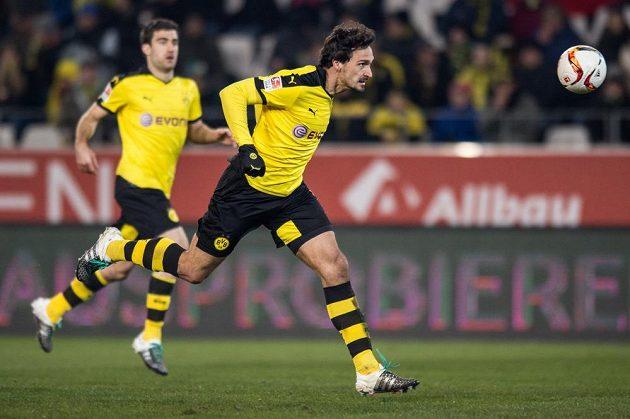 Obránce Borussie Dortmund Mats Hummels během přípravného utkání proti Spartě.