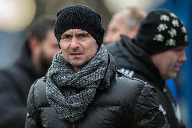 Trenér Slavoje Vyšehrad Jiří Novotný během utkání Tipsport ligy s FC MAS Táborsko.