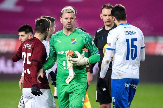 Brankář Baníku Ostrava Jan Laštůvka po utkání osmifinále MOL Cupu na Spartě.
