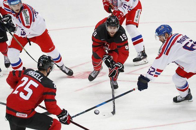 Česko - Kanada, zápas Channel One Cupu v Moskvě.