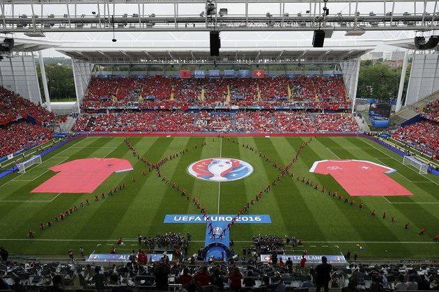 Takto to vypadalo před zápasem Albánie - Švýcarsko.