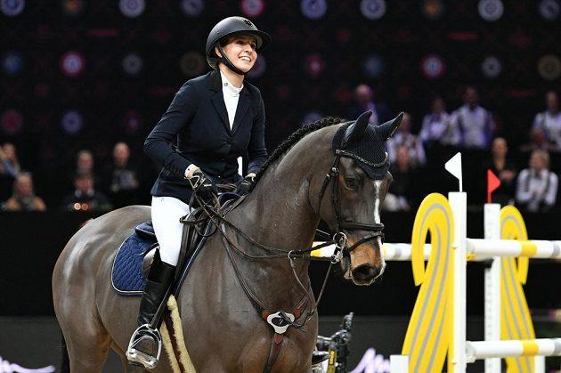 Anna Kellnerová byla se svou jízdou nadmíru spokojená.