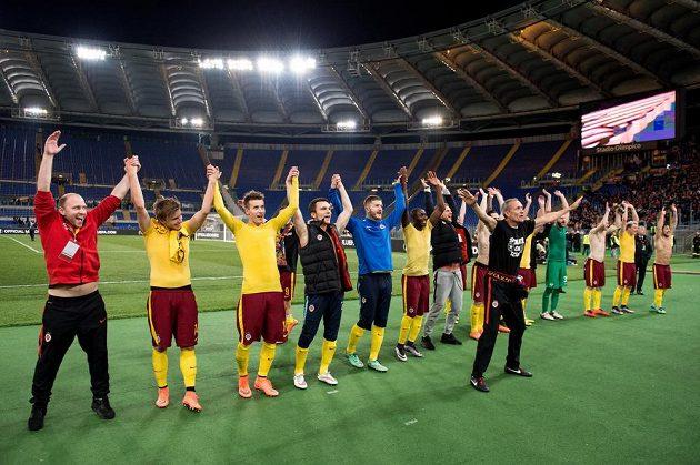 Sparťanská euforie po postupu do čtvrtfinále Evropské ligy.