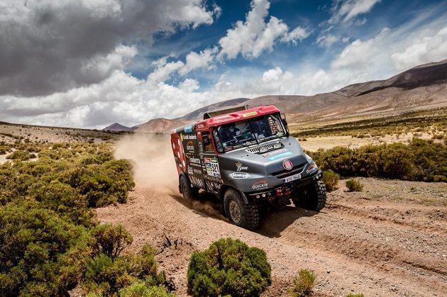 Albert Llovera s tatrou při Rallye Dakar.