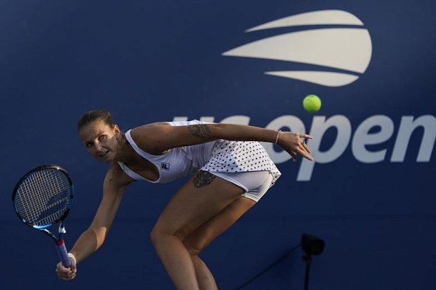 Česká tenistka Karolína Plíšková v akci na US Open.