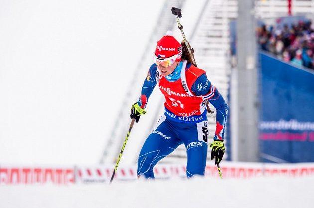 Veronika Vítková na trati v Holmenkollenu, dějišti mistrovství světa.