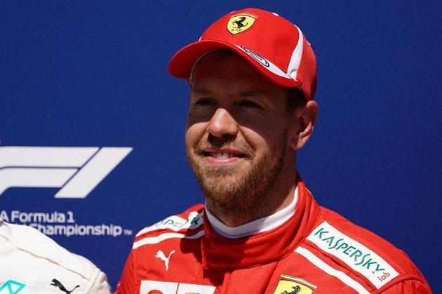 Sebastian Vettel z Ferrari vyhrál kvalifikaci na Velkou cenu Kanady formule 1.