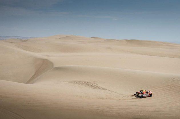 Martin Prokop se svým fordem při Rally Dakar 2018