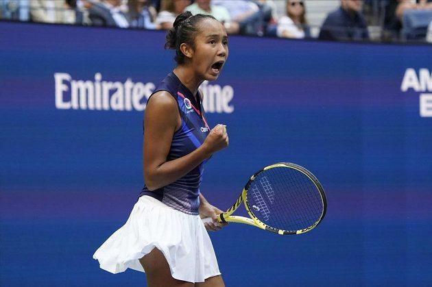 Bouřlivá reakce Leylah Fernandezové v dramatickém finále US Open.