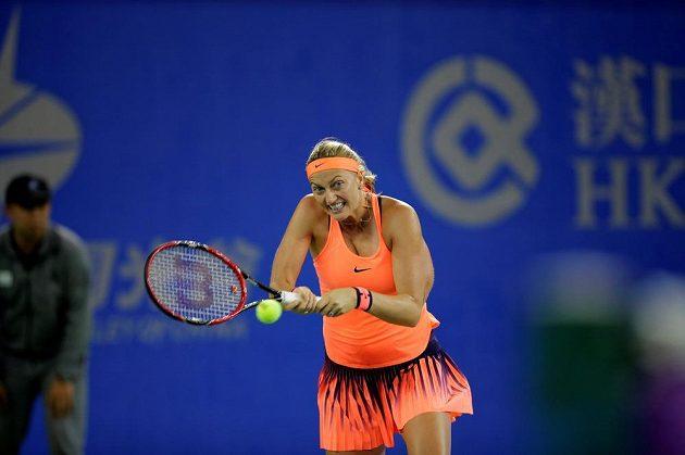 Česká tenistka Petra Kvitová smetla v semifinále turnaje ve Wu-chanu Simonu Halepovou.