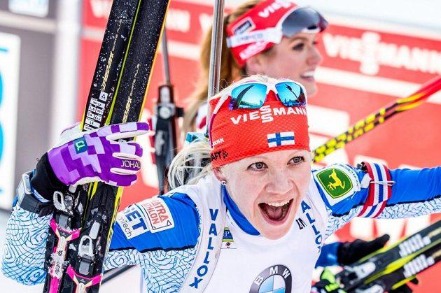 Kaisa Mäkäräinenová v Pokljuce opět předvedla výtečný běžecký výkon.