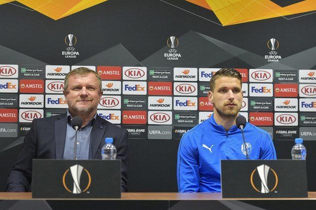 Zleva trenér Pavel Vrba a Jan Kovařík.