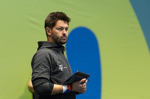 Trenér brankářek české reprezentace Roman Vítek.