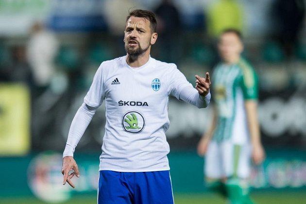 Marek Matějovský z Mladé Boleslavi během utkání čtvrtfinále MOL Cupu na hřišti Bohemians 1905.