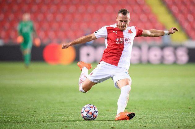 Vladimír Coufal během utkání s dánským Midtjyllandem