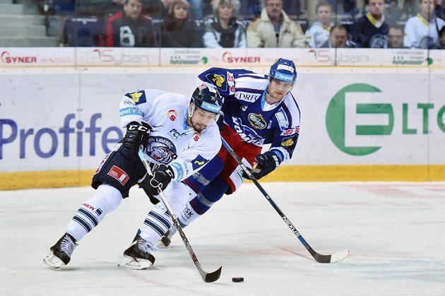 Liberecký Jakub Valský (vlevo) a Martin Dočekal z Komety.