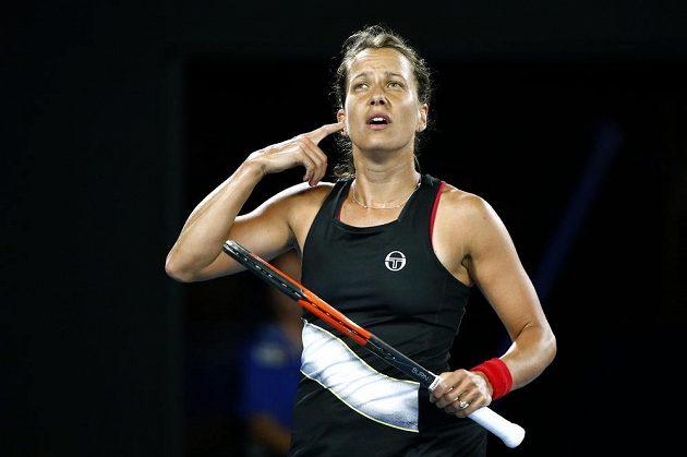 Česká tenistka Barbora Strýcová v osmifinále Australian Open.